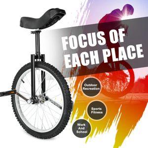 Triclicks Einrad 20 Zoll höhenverstellbar Sattelstütze Balance Radfahren Heimtrainer Fahrrad mit Skidproof Mountain Reifen + Einradständer für Anfänger und Profis Unisex
