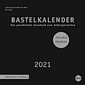Bastelkalender 2021 schwarz, klein