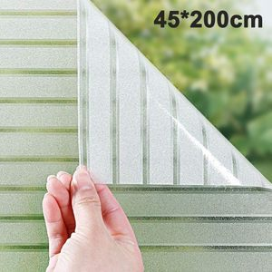 Fensterfolie Streifen Sichtschutzfolie Selbstklebend Milchglasfolie Sichtschutz gestreifte Folie für Büro Anti-UV