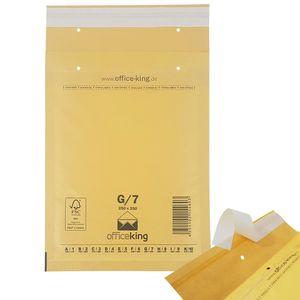 100 x Luftpolstertaschen / Versandtaschen / Luftpolsterumschläge braun G7 (250 x 350 mm A4+ / C4)