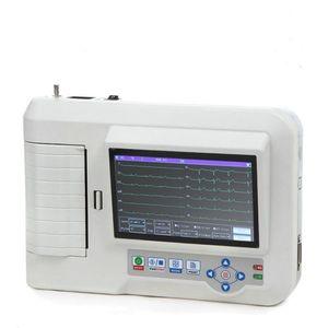 CONTEC ECG600G Digitales 6-Kanal-EKG-Gerät mit Drucker, 12-Kanal-Touch-Farb-LCD-Elektrokardiograph, Interpretation der PC-Software