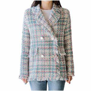 Herbst- und Wintermode für Damen Langarm-Mantelanzug-Kragen-Jackenmantel Größe:M,Farbe:Blau