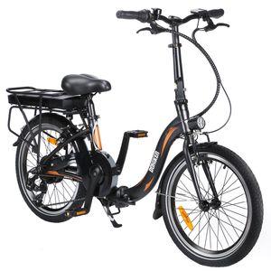 FAFREES 20F054 20 Zoll E-Bike Elektrofahrrad Fahrrad Electric Bike E-MTB Mountainbike Elektrofahrrad Citybike Elektrofahrrad mit LED Leucht Scheinwerfer 25km/h 250W 36V 10Ah Gelb