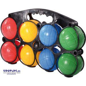 EDUPLAY 170377 Boccia im Kunststoff-Träger, mehrfarbig, 9-teilig (1 Set)