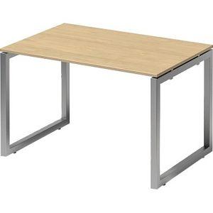 Bisley Schreibtisch CITO O 1200x740x800mm silber/ahorn