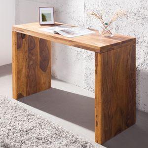cagü: Exklusiver Design Schreibtisch [SATNA] Sheesham massiv Holz 100cm x 40cm