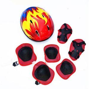 Skateboard Helm Kinder,  Protektorenset Kinder mit Knieschoner, Ellenbogenschoner und Handgelenkschoner für Inlineskates, Skateboard, Hoverboard, Fahrrad, BMX-Fahrrad