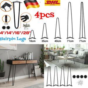 Hairpin Legs, 4er Set, 71 cm, schwarz, Tischbeine aus Stahl 3 Streben