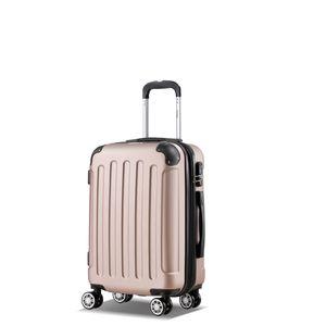 Koffer Flexot 2045 Handgepäck Koffer ( Bordcase ) - Farbe Rosegold Größe M - Reisekoffer - Trolley Hartschale