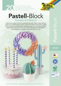 folia Tonpapier- und Fotokarton-Block PASTELL A4 20 Blatt
