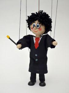 Dekorationsartikel Marionette Zauberer 20cm