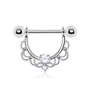 Stahl - Nipple Shield - filigranes Ornament