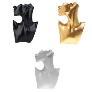 3 Stück Harz Weibliche Halskette Ohrring Schaufensterpuppe Display Büste Organizer