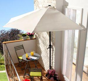(DPD) Halbrunder Wand-Sonnenschirm 270cm - weiß