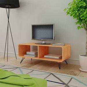 TV Schrank 90x39x38,5 cm Holz Braun