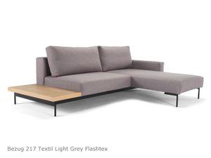 Innovation Bragi Schlafsofa 3-Sitzer Light Grey mit Ablage