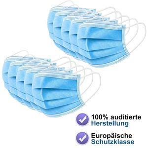 30 Stück Mundschutz Premium Soft 3 lagig Atemschutz Maske Einweg