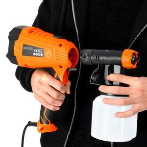 vidaXL Elektrische Farbspritzpistole mit 3 Düsengrößen 500 W 800 ml