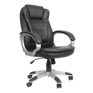 Bürostuhl Schreibtischstuhl Kunstleder Chefsessel Drehstuhl Höhenverstellbar Büro Gaming Stuhl Schwarz Schreibtisch Sessel 150kg