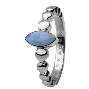 Skagen Damen Ring Silber/Ice blue JRSI005, Ringgröße:57 (18.1) SS8 M18