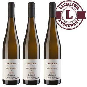 Weißwein Rheinhessen Weingut Becker  Scheurebe   lieblich (3 x 0,75 l)