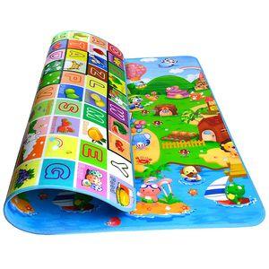 Baby Kinderteppich Spielteppich Spielmatte Kinder Puzzlematte Baby-kriechende Auflage Crawl Junge kinderzimmer Spielmatte Kinderzimmerteppich Picknickdecke (Ocean, 180 x 120 cm)