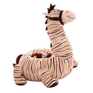 Cartoon Animal Kindersitz Sofa Bezug Baby Chair Sitzsack Zebra (Beige) wie beschrieben