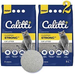 1-er Set Calitti 100% Natürlich Strong ist eine Klumpstreu für Katzen aus Bentonit 5L