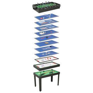 anlund 15-in-1 Multigame-Tisch 121×61×82 cm Schwarz