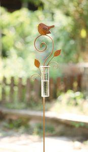 Gartenstecker Regenmesser, Maße: ca. 16 x 108 cm, Glas Ø 4 x 15 cm