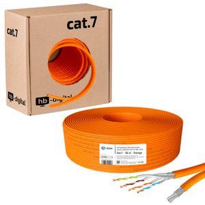 Duplex Verlegekabel, Netzwerkkabel CAT.7 AWG23 50m - 250m ORANGE 50m