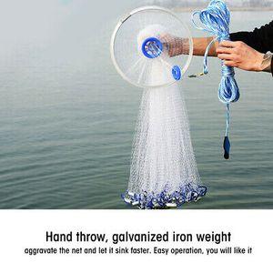 Wurfnetz Fischernetz Angelnetz 3.6m Cast Net Köderfischnetz Angel Netz Fangnetz-