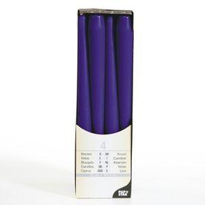 Spitzkerzen Ø 2,2 cm / 25 cm (4 Stück), Farbe:lila