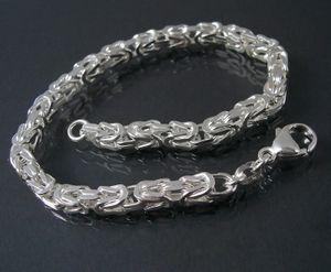 Königskette Armband Sterlingsilber 23cm x 4,3mm Schmuck 14043-23