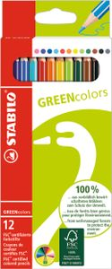 STABILO Buntstifte GREENcolors 12er Karton Etui