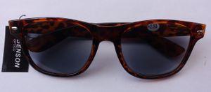 GKA Nerd getönte Lesebrille +2,5 Dioptrien mit Federbügel Sonnenbrille mit Sehstärke Sonnenlesebrille Sonne Brille braun Leo