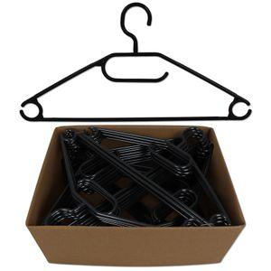 Kleiderbügel 50 Stück Kunststoff Bügel Hosenbügel Garderobenbügel schwarz