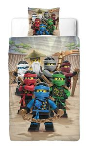 "Lego Ninjago Renforce-Kinder-Bettwäsche ""BE COOL""135 x 200 cm, 100 % Baumwolle"