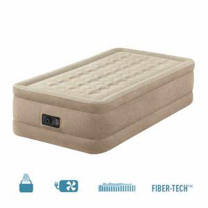 Intex 64456 Ultra Plush Bed 230 V Single-Luftbett mit integrierter Luftpumpe, 191x99x46 cm