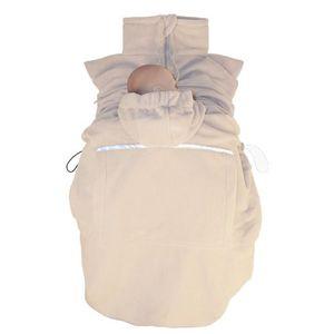"Hoppediz® Fleece-Cover ""Basic"" - wärmendes Tragecover für kalte Wintertage, Design: sand"