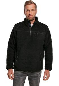 Brandit Jacke Teddyfleece Troyer in Black-XL