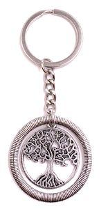 Onwomania Schlüsselanhänger Baum der Lebens stammbaum Silber Metall Anhänger Charm