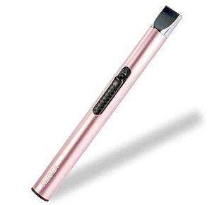 Lichtbogen Stabfeuerzeug USB Aufladbar Feuerzeug Lang Elektronisch rosa
