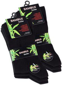 Vincent Creation® BAMBUS Socken 6 Paar 43-46 schwarz