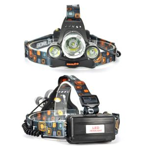 Profi Police LED Cree Stirnlampe Kopflampe 8000LM 3x XM-L T6 inkl. 2x PowerAkku