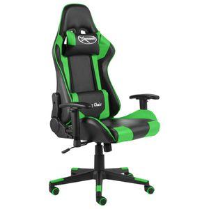 Bürostuhl Drehstuhl Schreibtischstuhl Gaming-Stuhl Drehbar Grün PVC