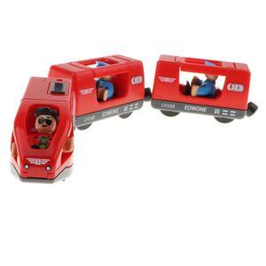 Klassischen Eisenbahn Züge Set aus Kunststoff Spielzeugauto für Kinder und Kleinkind