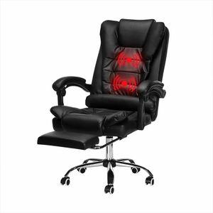 Massagesessel Rückenmassage Bürostuhl Chefsessel Stuhl Schreibtischstuhl Drehstuhl mit Fußstütze mit USB Massagefunktion