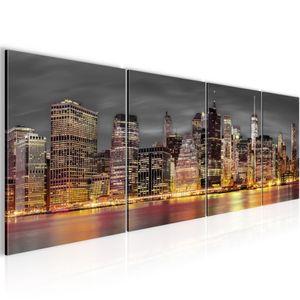 New York BILD 160x50 cm − FOTOGRAFIE AUF VLIES LEINWANDBILD XXL DEKORATION WANDBILDER MODERN KUNSTDRUCK MEHRTEILIG 014046a