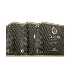 Rotwein Italien Primitivo Puglia IGT Soprano Bag in Box trocken (3x5L)